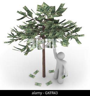 Money Does Grow on Trees - Stock Photo