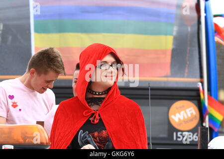 Swindon, UK 20th August 2016. People celebrate the annual LBGT festival. Daniel Crawford/Alamy Live News - Stock Photo