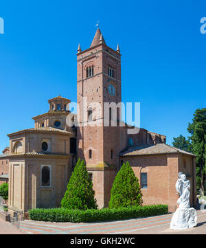 The Abbey of Monte Oliveto Maggiore, a Benedictine monastery located in Tuscany, Italy. - Stock Photo