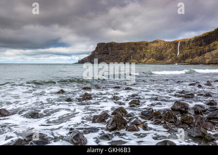 Talisker Bay, Isle of Skye, Inner Hebrides, Scotland, United Kingdom, Europe - Stock Photo