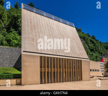 Parliament in Vaduz, Principality of Liechtenstein, Europe - Stock Photo