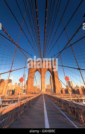 USA, New York, New York City, Brooklyn Bridge Stock Photo