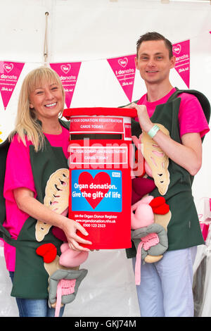 NHS campaign to encourage visitors to register for organ donation at Southport Flower Show, 2016, Merseyside,UK - Stock Photo