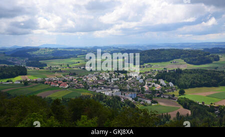 Bern bird eye view. Bern, Switzerland. - Stock Photo