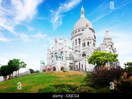 Sacre Coeur church, Paris - Stock Photo
