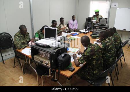 AMISOM Public Information Officers (PIOs) attend a radio communication training held in Mogadishu, Somalia on January - Stock Photo