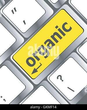 vector organic word on computer keyboard button - Stock Photo