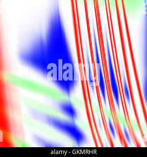 Abstract red blue and green motion traces and divorces on a white background - Stock Photo