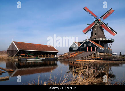 Mill de Rat in IJlst Stock Photo