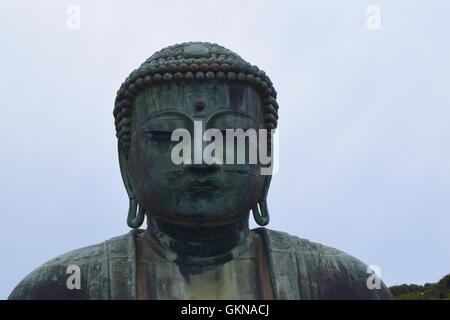 Giant Buddha statue in Kamakura, Japan - Stock Photo