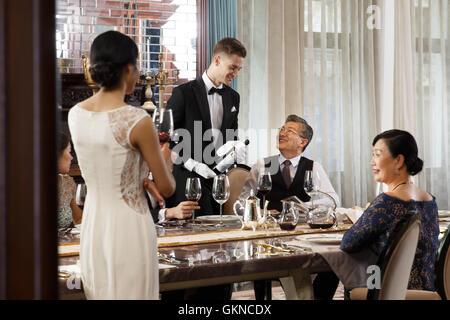 Aristocratic family dinner - Stock Photo