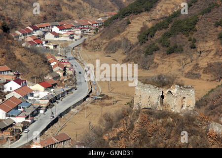 Hebei province Tangshan Qianxi elm ridge of the Great Wall,China