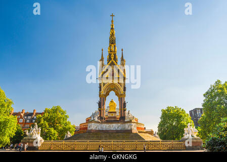 Victorian architecture London, detail of the rear of the Albert Memorial sited next to the Royal Albert Hall in - Stock Photo