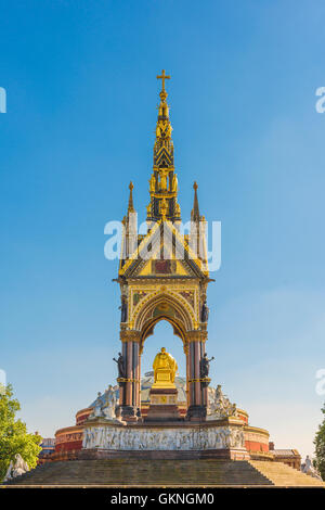 London architecture, detail of the rear of the victorian Albert Memorial sited next to the Royal Albert Hall in - Stock Photo