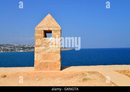 Rethymno city Greece view from Fortezza fortress landmark - Stock Photo