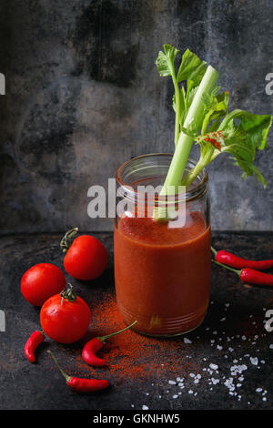 Tomato and paprika juice - Stock Photo
