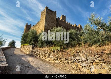 Montecchio Vesponi small village with old castle in Tuscany, Italy. - Stock Photo