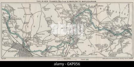 RIVER THAMES (3) Marlow-Henley-Wargrave-Reading-Caversham-Mapledurham, 1912 - Stock Photo