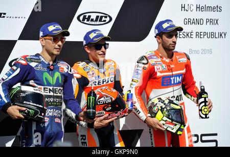 Brno, Czech Republic. 20th Aug, 2016. Grand Prix of the Czech Republic 2016, MotoGP, training, Brno, Czech Republic, - Stock Photo