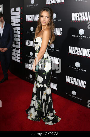 Hollywood, CA, USA. 22nd Aug, 2016. 22 August 2016 - Hollywood, California - Jessica Alba. Premiere Of Summit Entertainment's - Stock Photo