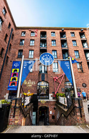 The Beatles Story is a visitor attraction dedicated to the 1960s rock group The Beatles in Liverpool - Stock Photo