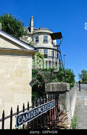 Camden Crescent Georgian property in Bath somerset England UK - Stock Photo