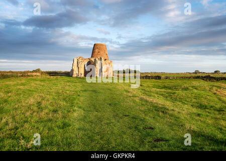 St Benet's Abbey ruins in Norfolk - Stock Photo