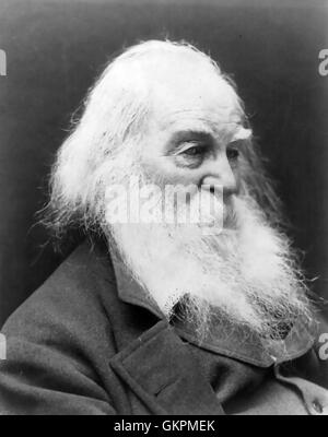 WALT WHITMAN (1819-1892) American poet about 1887 - Stock Photo