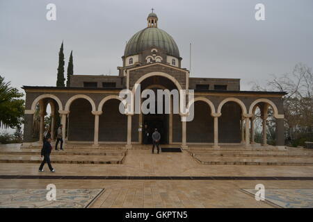 Church of Beatitudes, Sea Of Galilee, Israel - Stock Photo