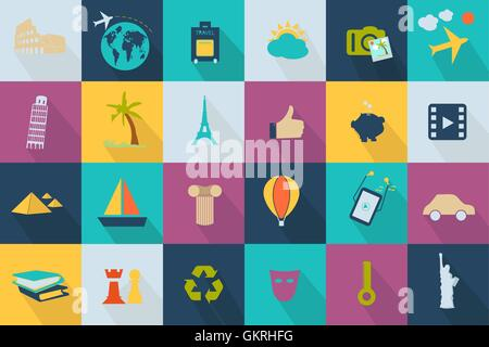 Business icon - style web 2.0 colorful - Stock Photo