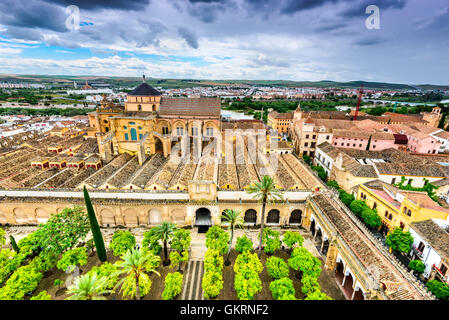 Cordoba, Andalusia, Spain. Mezquita Cathedral, The Great Mosque, medieval arab and spanish landmark. - Stock Photo