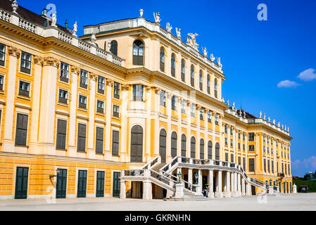 Vienna, Austria. Schonbrunn Palace in Wien. It's a former imperial 1,441-room Rococo summer residence in modern - Stock Photo