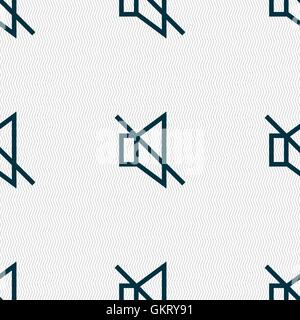 without sound, mute icon sign. Seamless pattern with geometric texture. Vector - Stock Photo