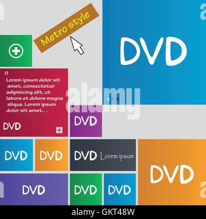 dvd icon sign. buttons. Modern interface website buttons with cursor pointer. Vector - Stock Photo