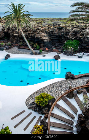 Jameos del Agua by Cesar Manrique in Lanzarote, Canary Islands, Spain - Stock Photo