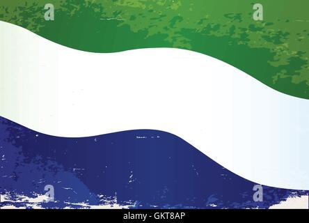 Sierra Leone Flag Grunge - Stock Photo