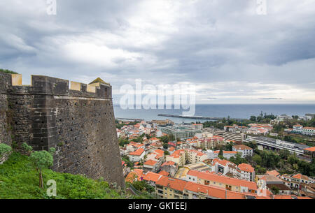 Funchal fortress at Madeira island. - Stock Photo