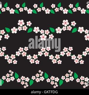 Cherry blossom borders - Stock Photo