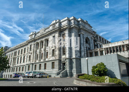 Wellington, New Zealand - March 3, 2016: Parliament House, one of New Zealand Parliament Buildings in Wellington - Stock Photo