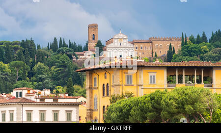 Village in Florence, Italy. European architecture and designs. - Stock Photo