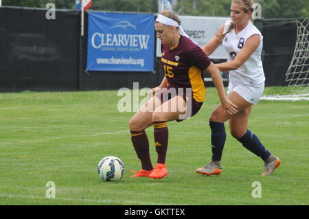 Robert Morris University V Michigan Central womens soccer - Stock Photo