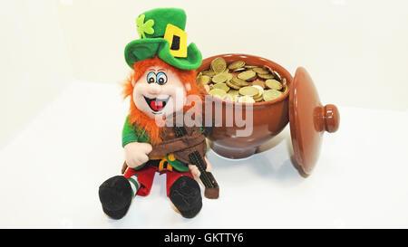 Green Leprechaun Toy. - Stock Photo
