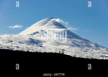 Volcan LLaima, region de la Araucania. LLaima Volcano, Araucania region. Patagonia, Chile. - Stock Photo