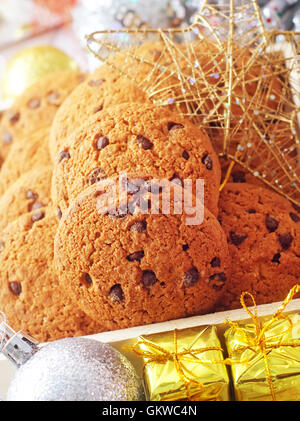 Cookies for christmas and christmas decoration - Stock Photo