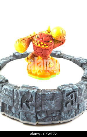 Eruptor One Of The Many Characters In The Skylanders Video Game - Stock Photo