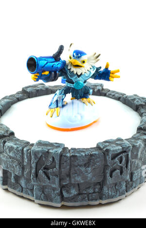 Jet-Vac One Of The Many Characters In The Skylanders Video Game - Stock Photo
