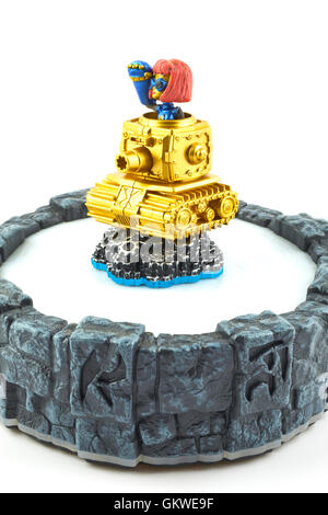 Heavy Duty Sprocket One Of The Many Characters In The Skylanders Video Game - Stock Photo