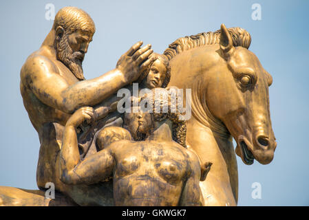 WASHINGTON, DC - Sacrifice sculpture by Leo Friedlander, one of four statues in the Arts of War, Sacrifice, and - Stock Photo