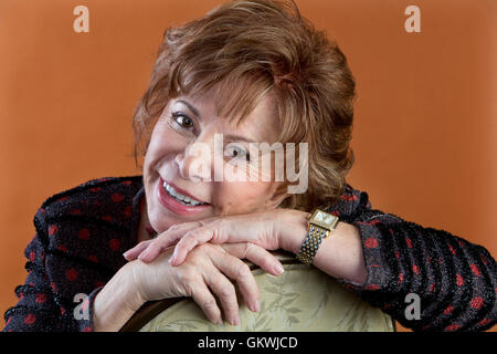 Isabel Allende poses for portrait session on November 30, 2015 in Los Angeles, California. - Stock Photo