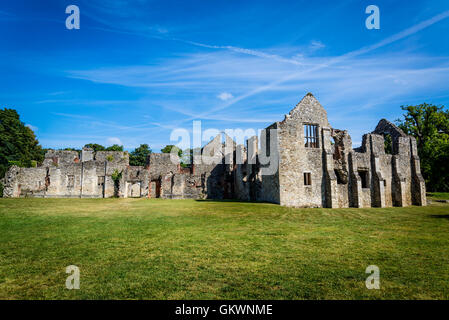 Netley Abbey, a ruined 13th century medieval monastery, near Southampton, Hampshire, England, UK - Stock Photo